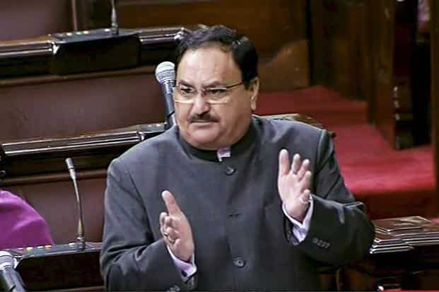 Congress members protested the introduction of the National Medical Commission Bill by health minister J.P. Nadda, demanding that it be sent to the parliamentary standing committee for thorough scrutiny. Photo: PTI