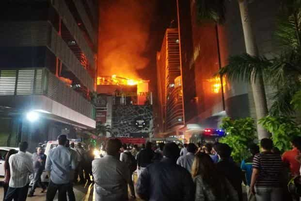 The massive fire that swept through the pub left 14 people dead and 21 injured. Photo: PTI
