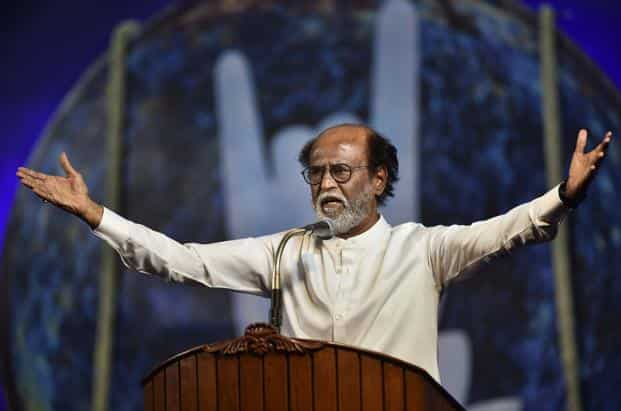 Image result for rajinikanth announcing politics