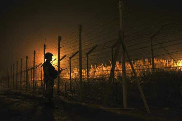 BSF has initiated retaliatory fire along the Pakistan border after the unprovoked firing. Photo: HT