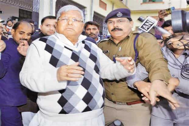 RJD leader Lalu Prasad has been lodged in Birsa Munda central jail since his conviction in the fodder scam case on 23 December. Photo:  PTI