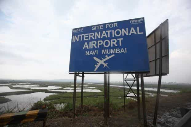 The first phase of the Navi Mumbai airport is expected to be operational in 2019 and will be able to handle 10 million passengers annually. Photo: HT