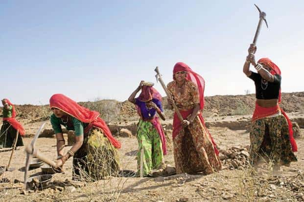Average real rural wage growth for women, like that for men, was very high during the period November 2013 to November 2014. Photo: Priyanka Parashar/Mint