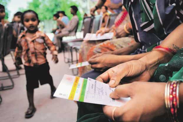 According to the UIDAI circular, the virtual ID will be a temporary, revocable 16-digit random number mapped to the Aadhaar number. Photo: Priyanka Parashar/Mint