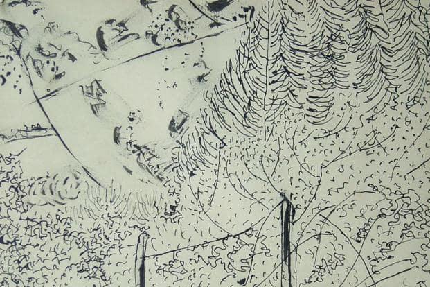 Mohamedi's rediscovered work, 'Untitled' (ink and pencil on paper). Photo Courtesy: Manisha Gera Baswani