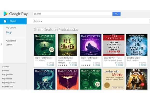 Google adds audio books on Play Store