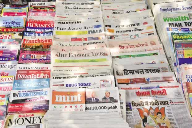 Apart from newspapers, the survey also published data on the growth in magazines, television ownership and direct-to-home (DTH) TV penetration. Photo: Ramesh Pathania/Mint