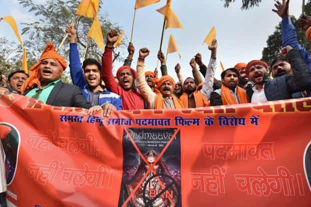 Lawyer Vineet Dhanda's plea seeks initiation of contempt proceedings against Karni Sena and its office-bearers for allegedly holding violent protest against the movie in several states. Photo: PTI