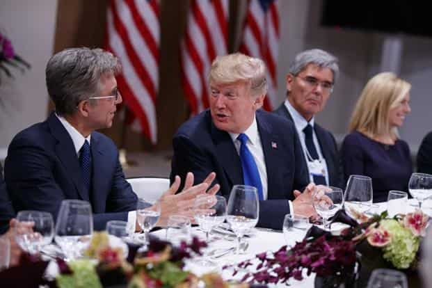 """President Donald Trump expected to tell the world's elite gathered in the resort town that his """"America First"""" agenda will be good for the world, not just the US. Photo: AP"""