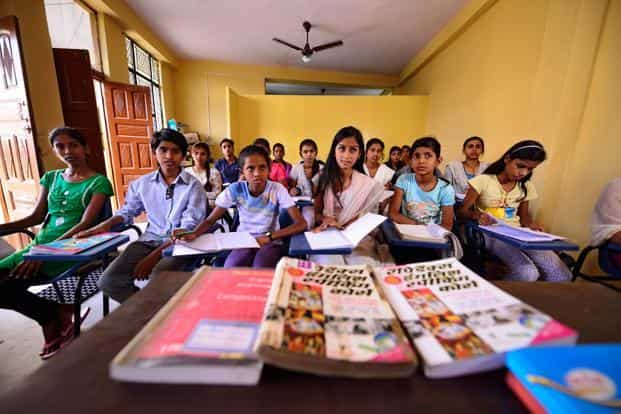 The low hike in education budget was hinted at in the Economic Survey presented last month, which said the government does not have much fiscal space to spend big on social sectors including education. Photo: Pradeep Gaur/Mint
