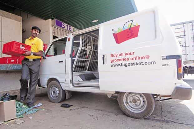 Bigbasket sells everything from fresh leafy greens to kitchen mops, spice mixes and savoury Indian tea-time snacks. Aniruddha Chowdhury/Mint