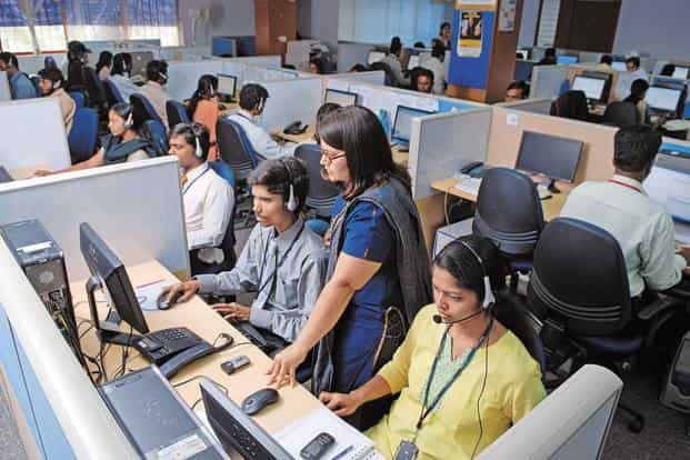 The latest PMI showed the recovery in demand led services firms to increase hiring last month at the second fastest rate in six-and-a-half years, surpassed only in September.  Photo: Hemant Mishra/Mint