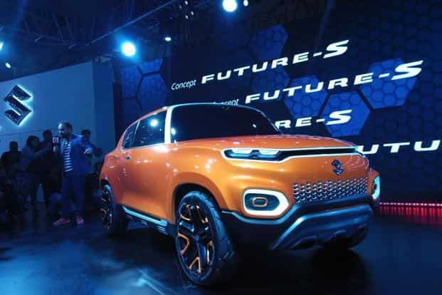 The Concept Future S will be the second car after Vitara Brezza (a compact sports utility vehicle or SUV) to be designed entirely in India. Photo: Ramesh Pathania/Mint