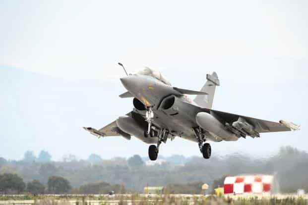 The UPA govt could not agree on the terms under which Rafale jets could be manufactured in India, the defence ministry said. Photo: AFP