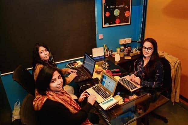 Japleen Pasricha (right), who runs the #Digital Hifazat campaign. Photo: Ramesh Pathania/Mint