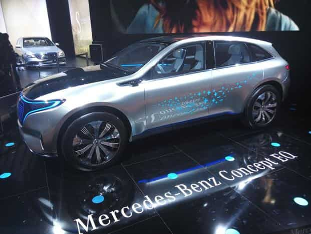 Mercedes-Benz concept EQ unveiled at Auto Expo 2018. Photo: Ramesh Pathania/Mint