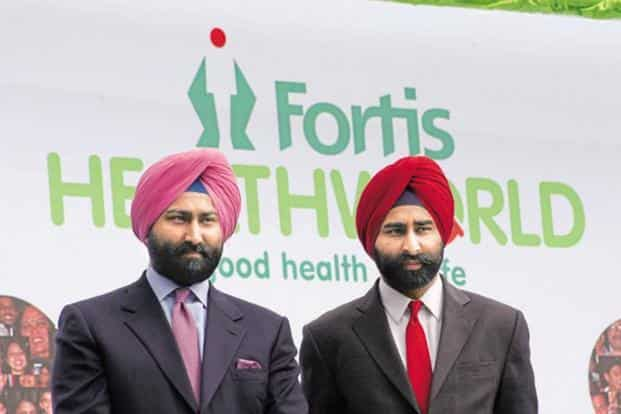 Fortis founders Malvinder Singh and his brother Shivinder. Photo: HT