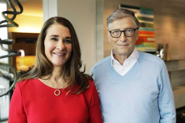 Microsoft co-founder Bill Gates and his wife Melinda. Bill