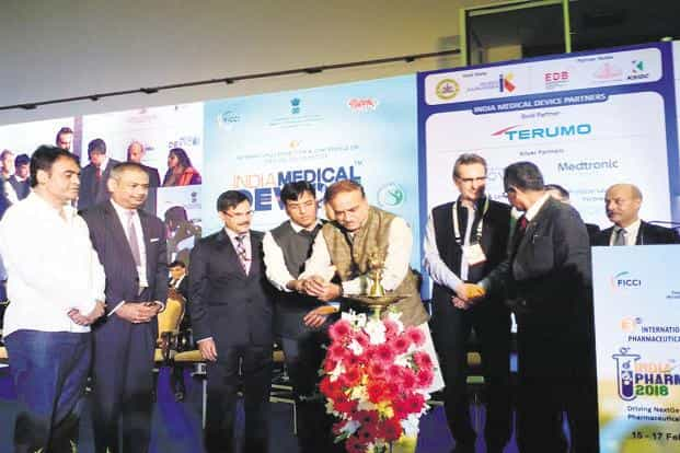 Union chemicals and fertilizers minister Ananth Kumar at the India Pharma and India Medical Device conclave in Bengaluru on Thursday. Photo: Twitter