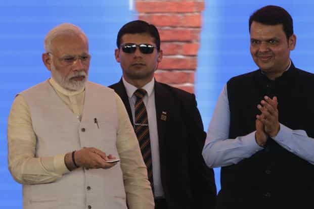 Laying the foundation stone for the Navi Mumbai International Airport, PM Narendra Modi said aviation sector across the world is moving very fast and India cannot lag behind. Photo: AP