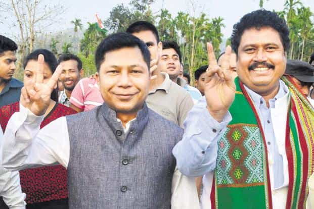 A file photo of Meghalaya chief minister Mukul Sangma. The incumbent Congress is facing its toughest ever electoral challenge in the state. Photo: PTI