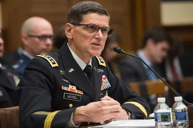 US Army General Joseph Votel, commander of the US Central Command, testifies during a House Armed Services Committee hearing on Capitol Hill in Washington DC on Tuesday. Photo: AFP