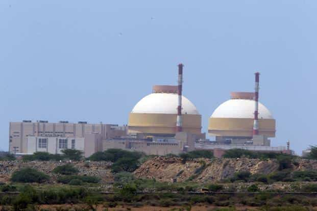 A file photo of India's Kudankulam nuclear power plant. India is not a member of the Nuclear Suppliers Group (NSG) and hence cannot participate directly in construction of atomic power reactors abroad.