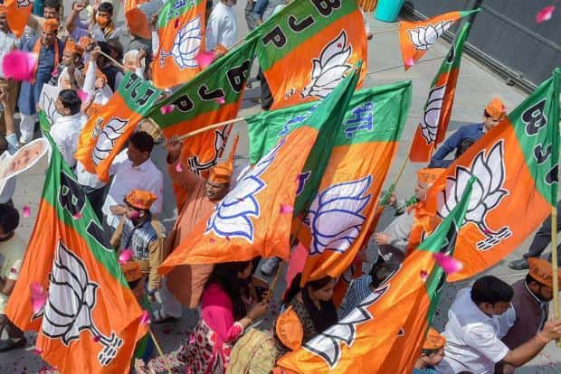 BJP, which did not have even a single councillor in all of Tripura, had secured less than 2% votes in the 2013 polls. Photo: PTI