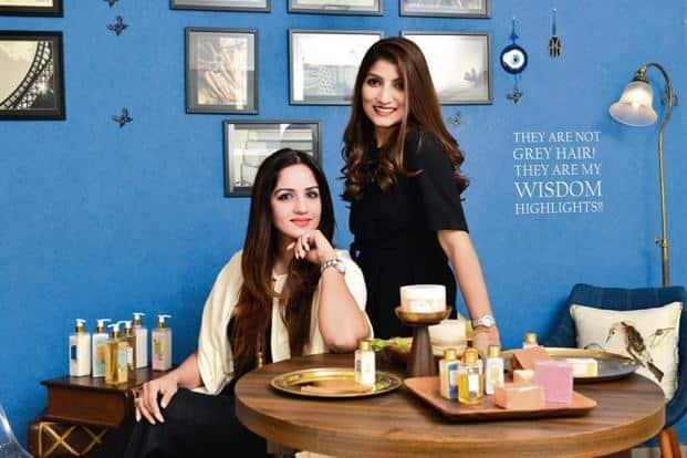 Vasu Gandhi (left) and Sneha Daftary with SOVA products. Photo: Aniruddha Chowdhury/Mint