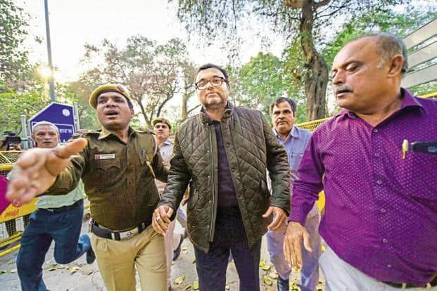 Karti Chidambaram was sent to judicial custody till 24 March by a special CBI court in the INX Media corruption case. Photo: PTI