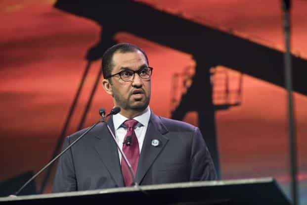 Sultan Ahmed Al Jaber, UAE's minister of state and CEO of Abu Dhabi National Oil Co. Photo: Bloomberg