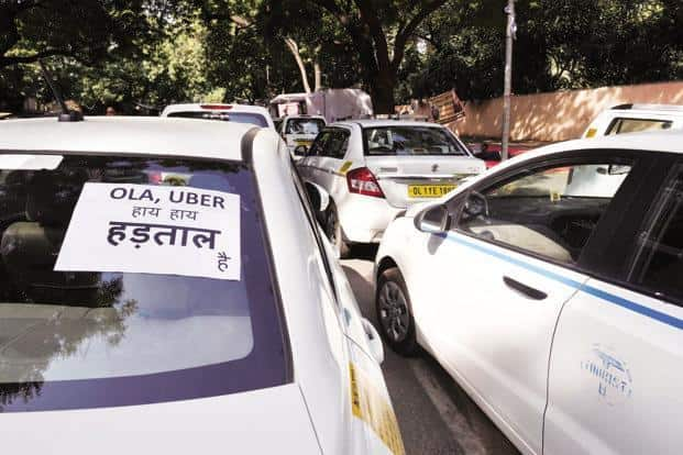 Drivers for Uber and Ola in other cities like the capital New Delhi, Bengaluru, Hyderabad and Pune among others would also take part, party leaders said over the weekend. Photo:Vipin Kumar/ Hindustan Times