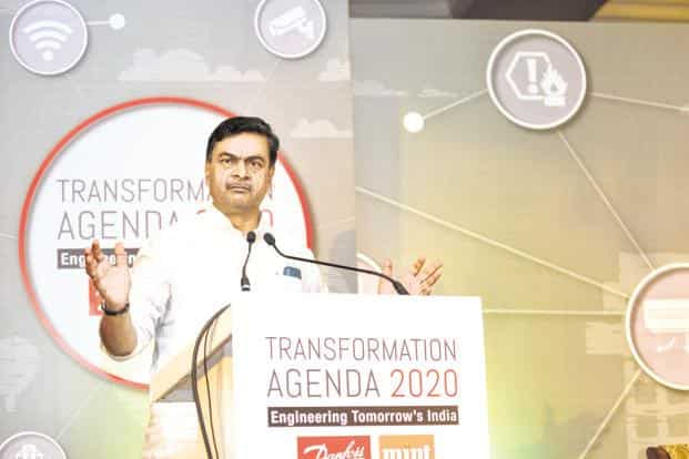 Power and renewable energy minister R.K. Singh  also expressed confidence that India will achieve about 200 gigawatts (GW) renewable energy capacity before 2022, exceeding the target of 175GW. Photo: Ramesh Pathania/Mint