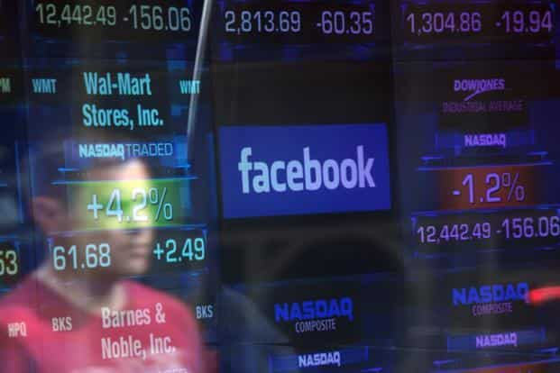 Shares in tech firms have slumped this week after a disclosure that Facebook released data of 50 million users to Cambridge Analytica, an analytics firm. Photo: AFP