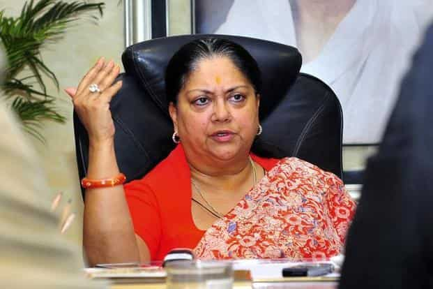 A file photo of Rajasthan chief minister Vasundhara Raje. Photo: Reuters
