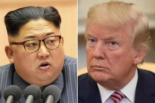Kim Jong-un (left) and Donald Trump. The most positive scenario out of a US-North Korea summit might be normalization of relations between Washington and Pyongyang. Photo: AFP