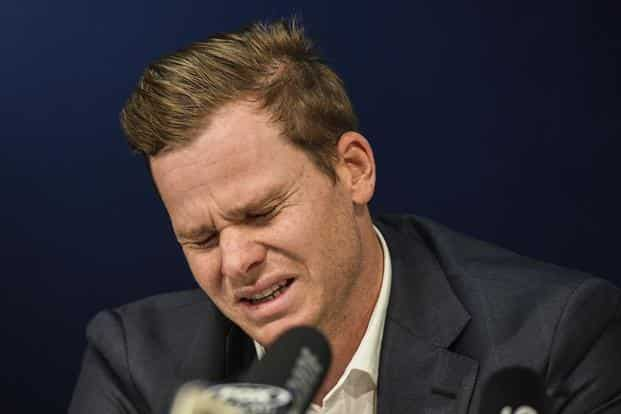 The ICC on Sunday banned disgraced Australia captain Steve Smith for one Test and docked his match fee for his role in the ball-tampering scandal in Cape Town. Photo: AP