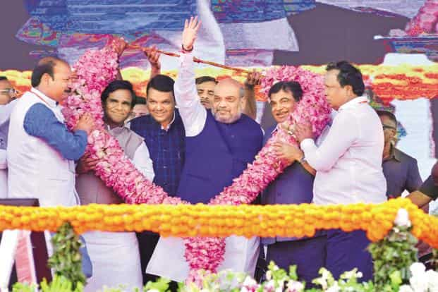 Image result for amit shah in mumbai