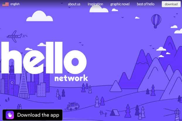 The hello app is available for download on App Store and Google Play.