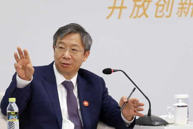People's Bank of China governor Yi Gang speaks at a panel at the Boao Forum for Asia in Qionghai, Hainan province, China on Wednesday. Photo: Reuters