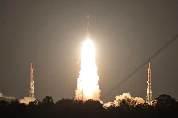 The ISRO's navigation satellite IRNSS-1I, on board PSLV-C41, lifts off at the Satish Dawan Space Centre in Sriharikota in Andhra Pradesh on Thursday. Photo: AFP