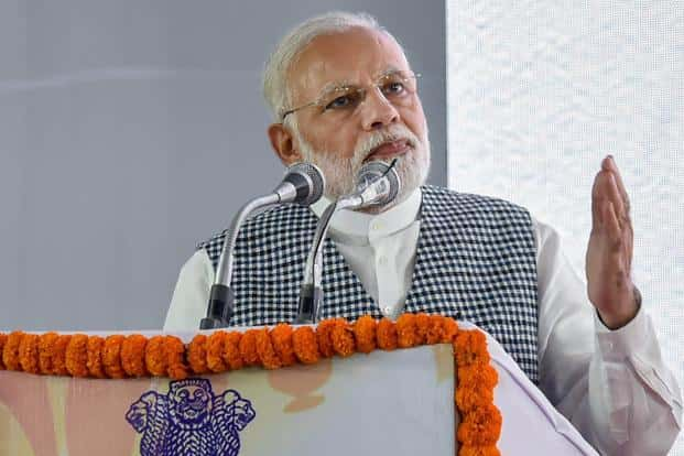 Prime Minister Narendra Modi at the inauguration of the Dr. B.R. Ambedkar National Memorial at 26 Alipur Road, Delhi on Friday. Photo: PTI