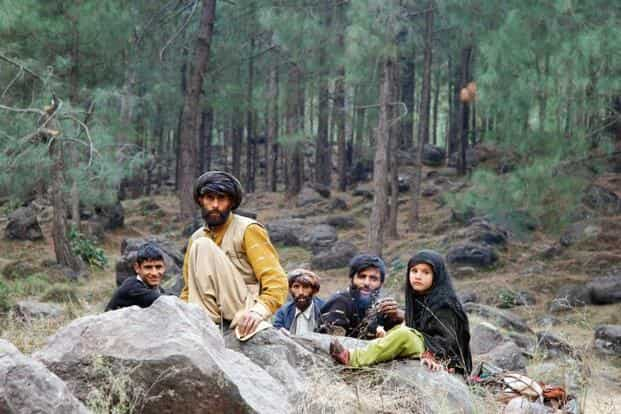 A file photo of a tribal family. The population of Gujjars and Bakarwals is highest in the Jammu region. Photo: HT