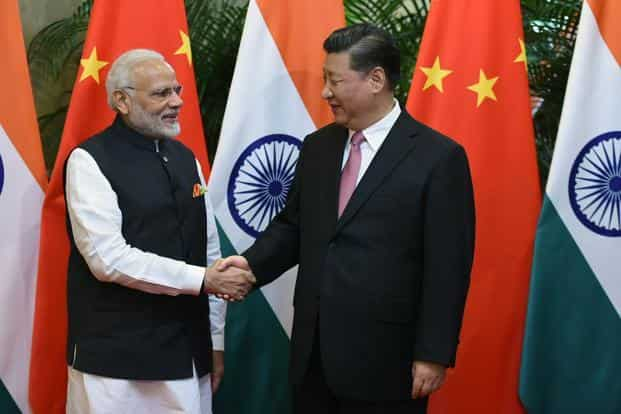 Prime Minister Narendra Modi with Chinese President Xi Jinping in Wuhan, China on 27 April 2018. Photo: AFP
