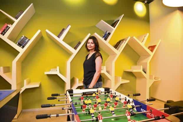 Himani Agrawal in the game room. Photo: Ramesh Pathania/Mint