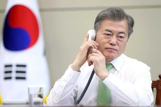 South Korean President Moon Jae-In plans to travel to Washington on May 22 in advance of a historic planned summit between President Donald Trump and North Korean leader Kim Jong Un. Photo: Reuters