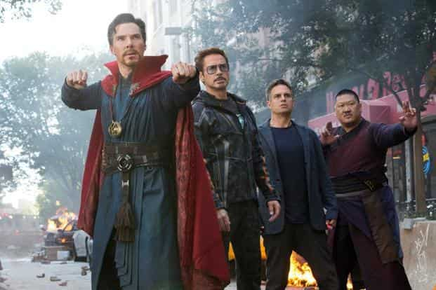 The Anthony and Joe Russo directed film Avengers: Infinity War has also topped $450 million domestically in the US in just nine days and the $1 billion mark worldwide in a record 11 days, according to movie website Box Office Mojo. Photo: Marvel Studios/AP