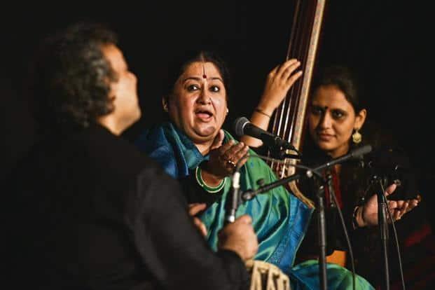 Shubha Mudgal in performance. Photo: Anushree Fadnavis/Hindustan Times