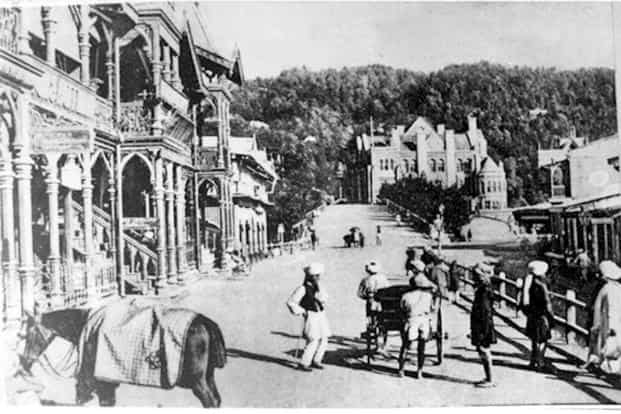 The Town Hall in Shimla, a favourite summer retreat of the British, in 1950. Photo: Wikimedia Commons