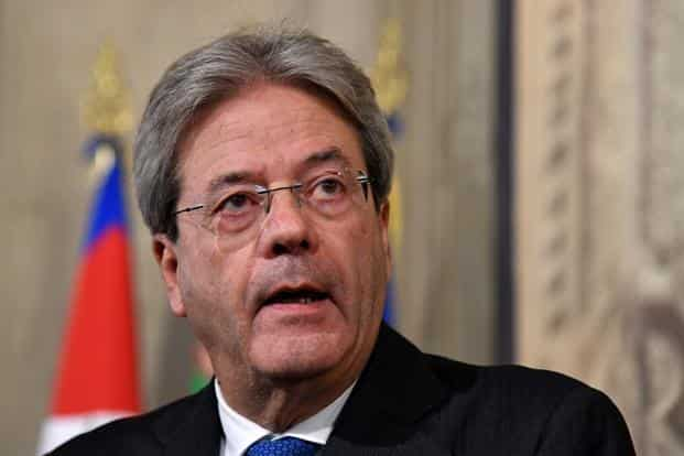 Italy Prime Minister Paolo Gentiloni. Willingness to ignore commitments Italy sees as unjust adds to its wrecking-ball potential. Photo: AFP